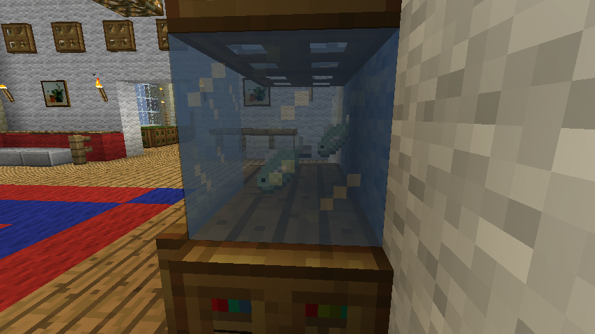 Minecraft Furniture Decoration A Minecraft Fish Tank