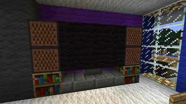 how to make a small fireplace in minecraft