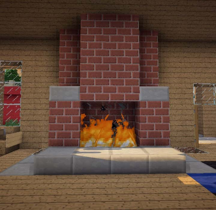 gallery for minecraft fireplace
