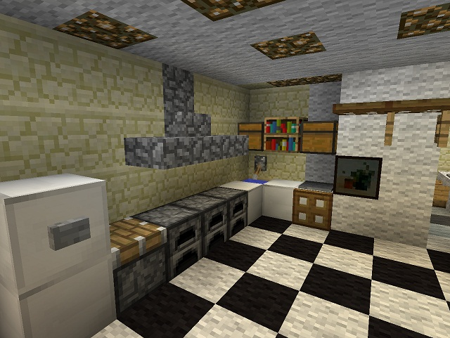 Kitchens in minecraft homes decoration tips for Kitchen ideas minecraft
