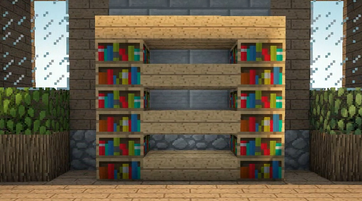 how to get bookshelves fast in minecraft