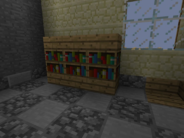 bookshelf design minecraft