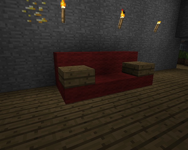 Minecraft furniture designs couch