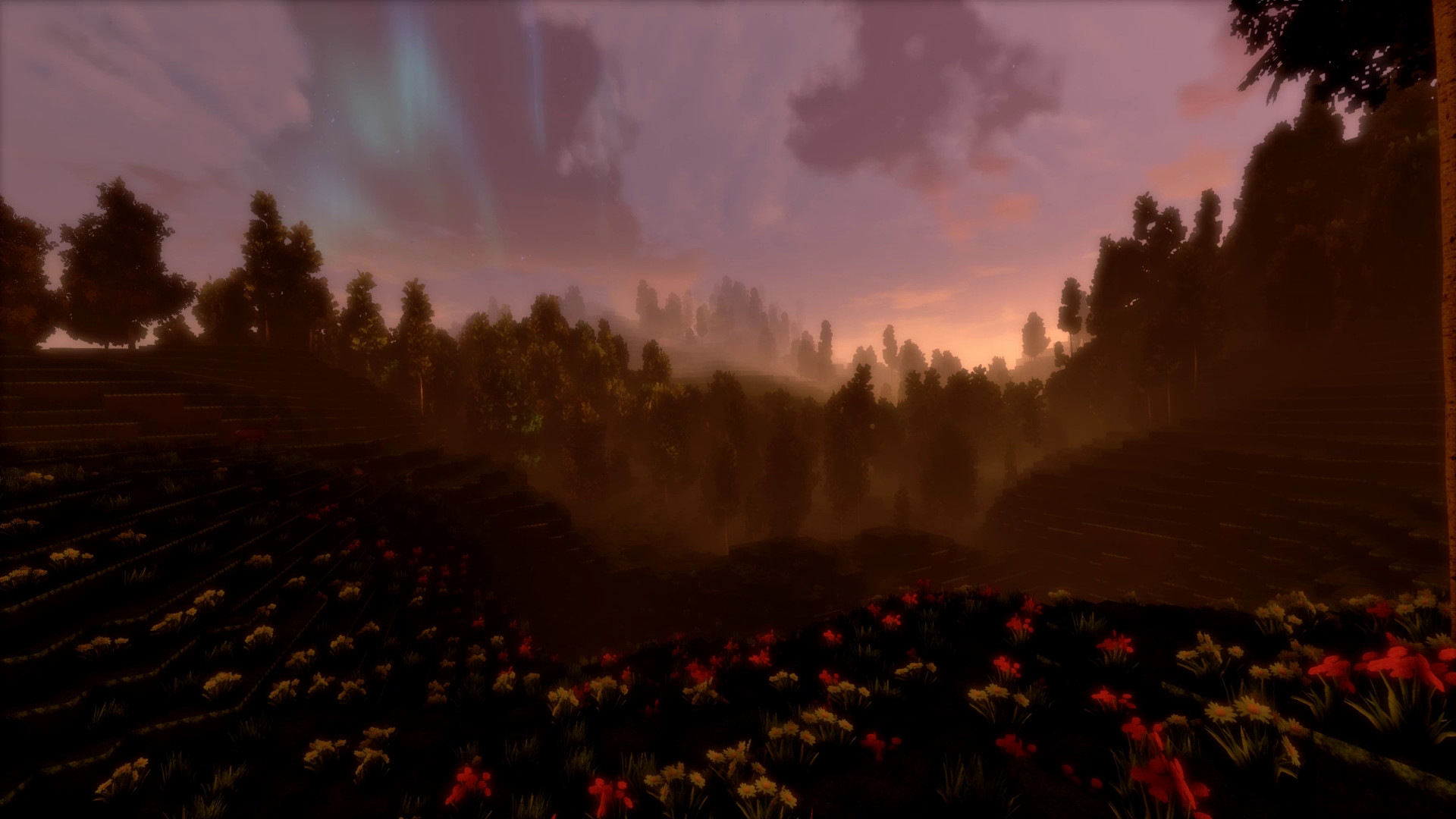 Cybubevr landscape with flowers