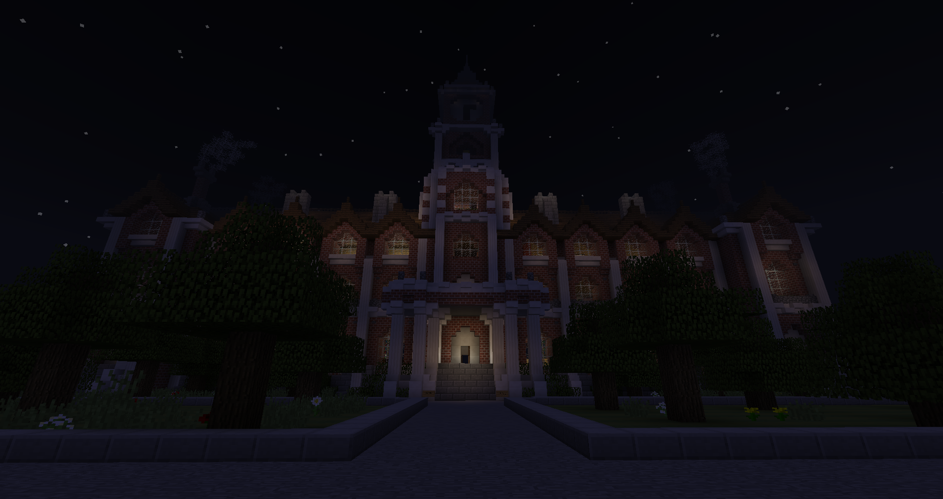 Minecraft schoolhouse